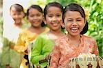 Balinese children laughing