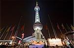Oriental Pearl TV tower in Liujiazui at night, Pudong, Shanghai, China