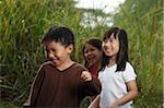 Three children playing.