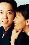 Portrait of couple, smiling