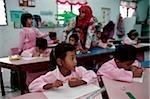 Malaysia, Penang, Georgetown, Students in Islamic School.