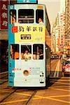 Chine, Hong Kong, Wanchai, tramway de trafic