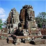 Cambodia, Angkor Thom, Face towers, the Bayon