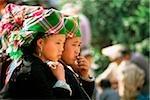 Vietnam, North Bac Ha Tribal girls