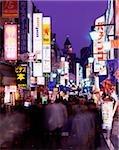 Japan, Tokyo, Shinjuku, Kabukicho, popular evening entertainment area at dusk