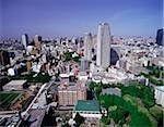 Japon, Tokyo, vue de Tokyo de la tour de Tokyo