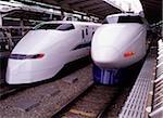 Japan, Tokyo, Shinkansen (bullet train) at Tokyo Station