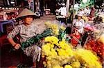Marché aux fleurs Danang, Vietnam.