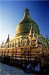 Myanmar (Burma), Bagan, Temple at dawn