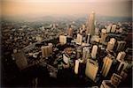 Malaisie, Kuala Lumpur, vue aérienne des tours Petronas et le centre-ville de Kuala Lumpur.