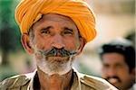 Inde, Rajasthan, Pushkar, homme indien, portrait