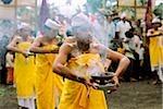 Indonésie, Bali, danseurs interprètent sacrée dansent (Kintamani).