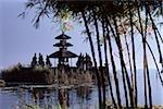 Indonesia, Bali, Lake Bratan, Bedugal, Water temple.