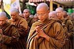 Indonesien, Java buddhistische Mönche Vesak-Zeremonie