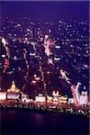China, Shanghai, aerial view of the Bund