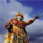 Indonésie, Bali, Ubud, danseuse de masque (Topeng) effectuer.