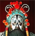 Artiste-interprète en costume traditionnel China, Beijing, Beijing opera