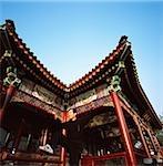Chine, Beijing, le Palais d'Eté, pavillon chinois, homme fait taichi