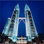 Malaisie, Kuala Lumpur, Petronas Towers de nuit