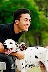 Man with Dalmatian
