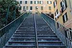 Escalier à Camogli, Province de Gênes, Ligurie, Italie