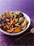 Légumes grillés au romarin et poivre noir