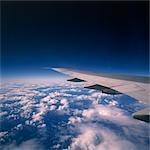 Extrémité d'aile d'avion Jet en vol