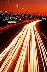 Heavy Traffic on Freeway at Sunset, Eastern Freeway, Melbourne, Australia