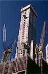 Office Building Construction, Cranes