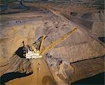 Noir charbon, ouvrez Cut Coal Mine, Australie