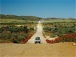 Quatre roues motrices sur une route en gravier, Gammon Ranges, Parc National des Flinders Ranges, Australie-méridionale, Australie
