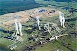 Brown Coal Power Station, Aerial, Australia