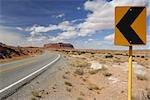 Highway 163, Monument Valley, Navajo Tribal Park, Arizona, USA