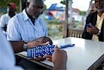 Men Playing Dominos, Grand Bahama Island, Bahamas