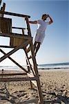 Lifeguard at Beach, Ibiza, Spain