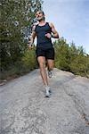 Man Jogging, Ibiza, Spain