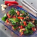 Thailändischer Spinat und rote Beete