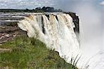 Chutes de main de Cataract Island, Victoria Falls, Matabeleland Nord, Zimbabwe