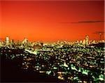 Paysage urbain de Johannesburg au crépuscule, Johannesburg, Gauteng Province, Afrique du Sud