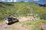 4 x 4, négociation, Van Zyls col de Van Zyl, Kaokoland, Namibie