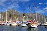 Yachts à Hout Bay, Cape Town, Western Cape Province, Afrique du Sud