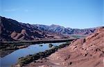 Vue panoramique sur les méandres de la rivière Orange