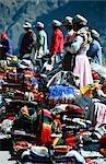 Portrait of a Colourful Fabric Market