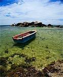 Empty Boat in Clear Waters