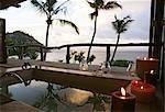 Outdoor Bathtub Overlooking the Ocean