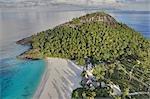 Pristine Beach Island - Aerial View