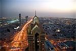 Dubai's Main Drag at Dusk