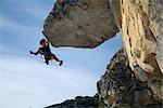 Cliff Hanger escalade d'une paroi rocheuse