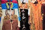 Arabic Dresses on display at a shop in the Souq. Dubai, United Arab Emirates