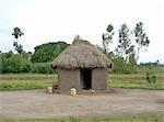 Traditional mud hut in the Kisumu rural village. Kenya, Africa
